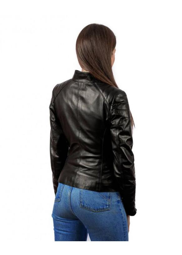Женская кожаная куртка N175 VEGETAL 093