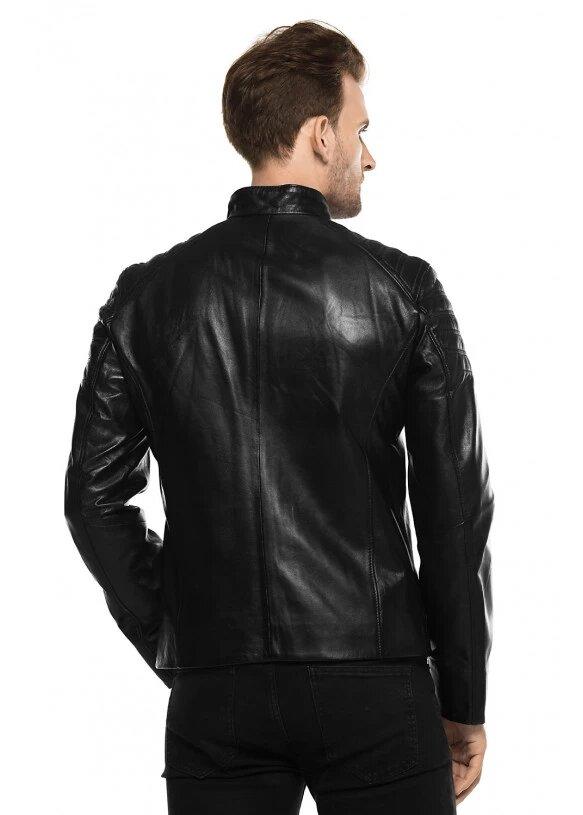 Мужская куртка из натуральной кожы E1-001 ZIK 107