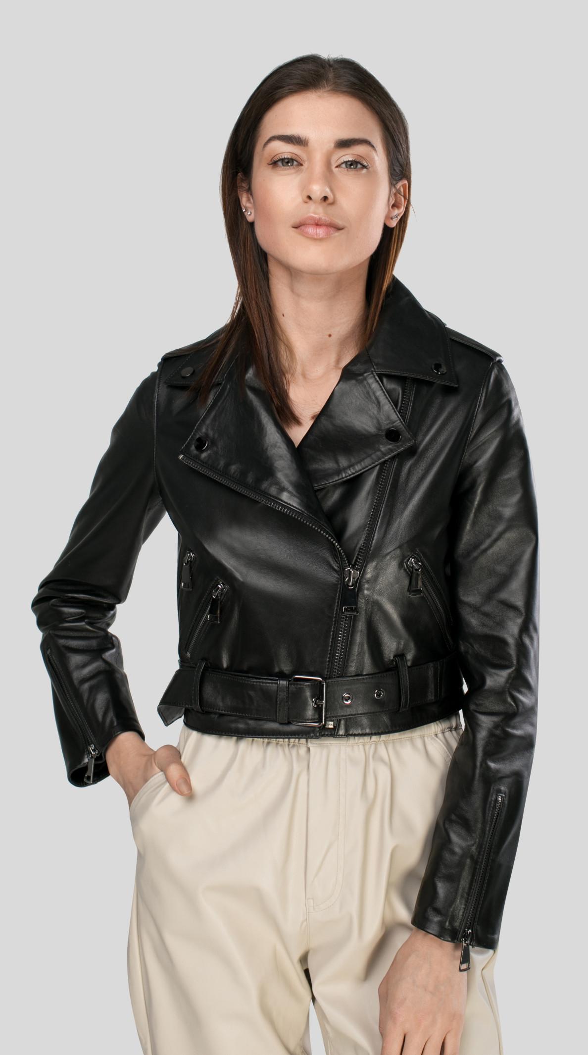 Женские  Кожаные куртки-косухи