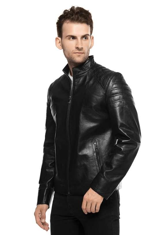 Мужская кожаная куртка 8602/1021 ZIG 112