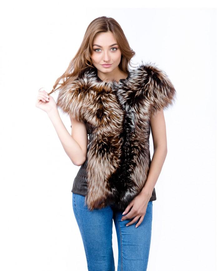 Women's fox waistcoat 2050 Y70 ZIK ARJANTE 009 - интернет-магазин Alberta