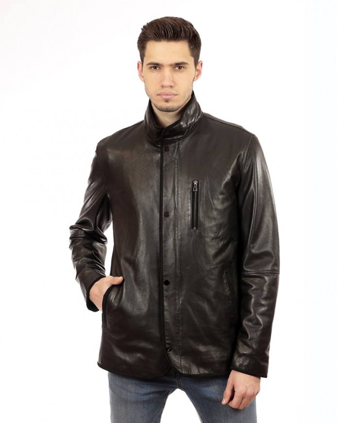 Men's leather jacket 8403 ZIK 086 - интернет-магазин Alberta