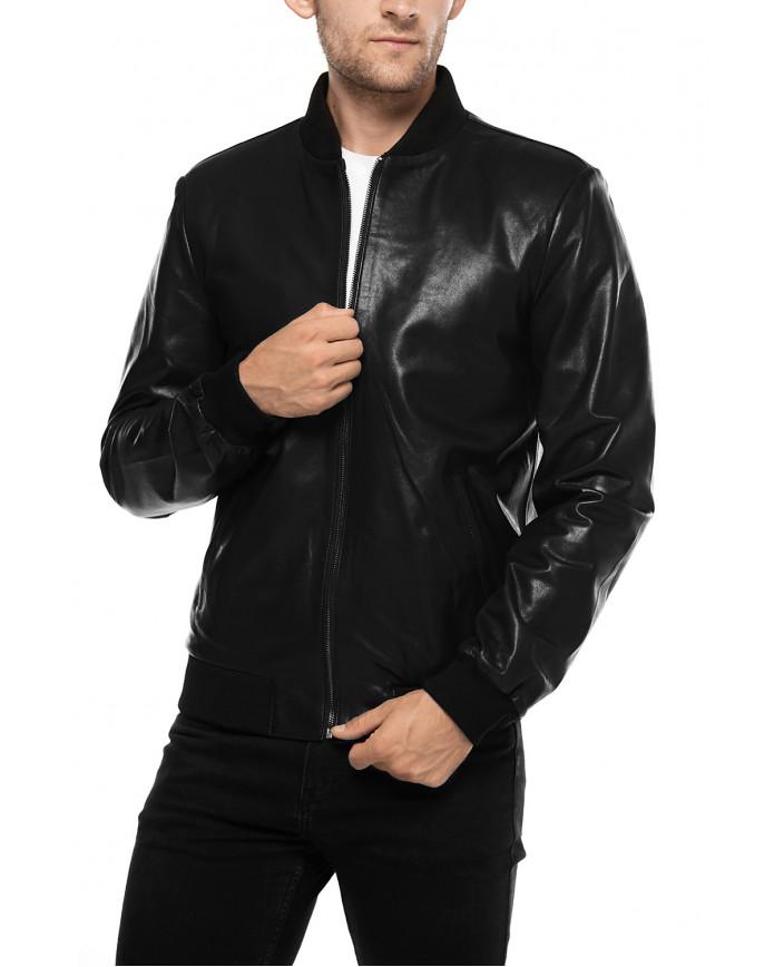 Кожаная куртка  College VEGETAL 086 - интернет-магазин Alberta