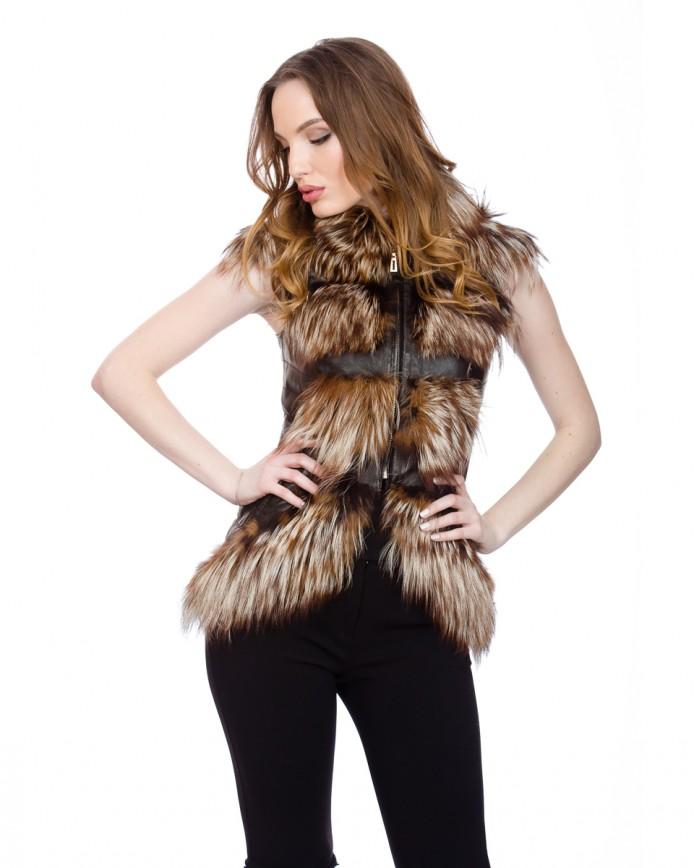 Women's fox waistcoat 1667 Y70 ZIK ARJANTE 009 - интернет-магазин Alberta