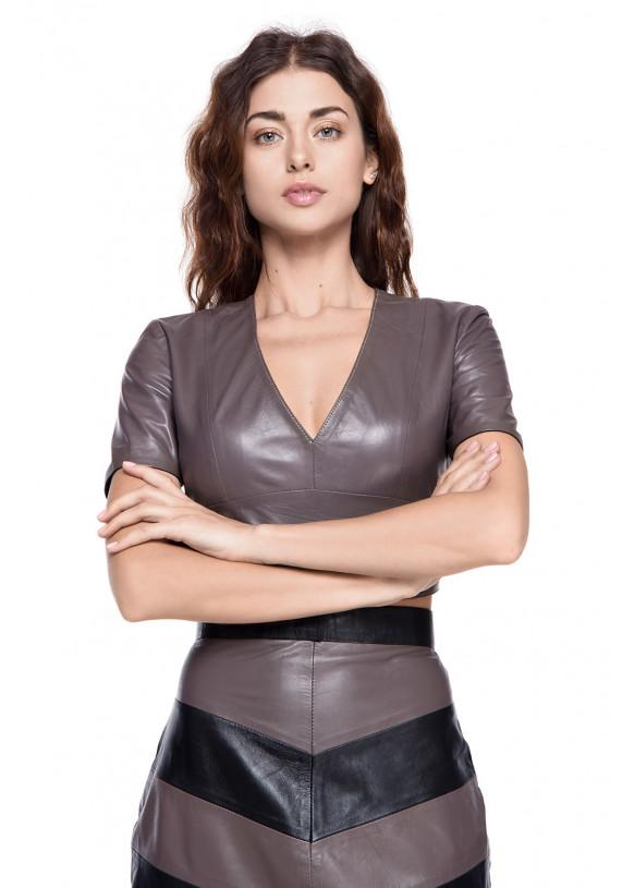 Женский кожаный костюм TKM-1 NATUREL 093