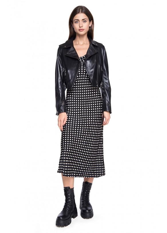Женская кожаная куртка косуха INFINITY VEGETAL 086