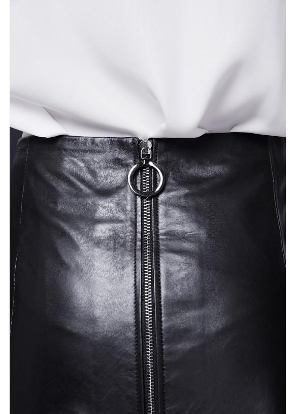 Женская кожаная юбка E-007 NATUREL 093