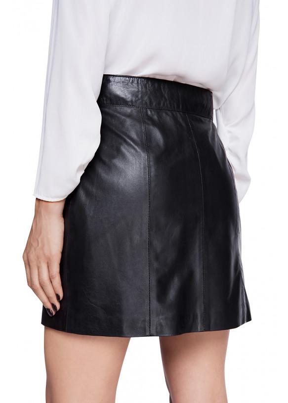 Женская кожаная юбка E-004 NATUREL 093