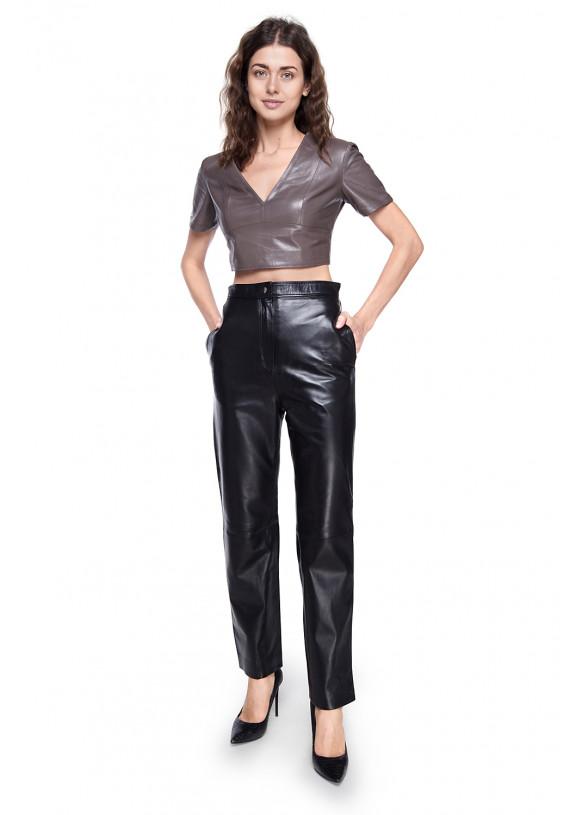 Женские кожаные брюки P-30 NATUREL 093