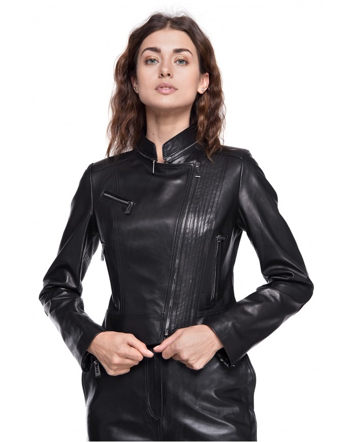 Leather Jacket Chick VEGETAL 093