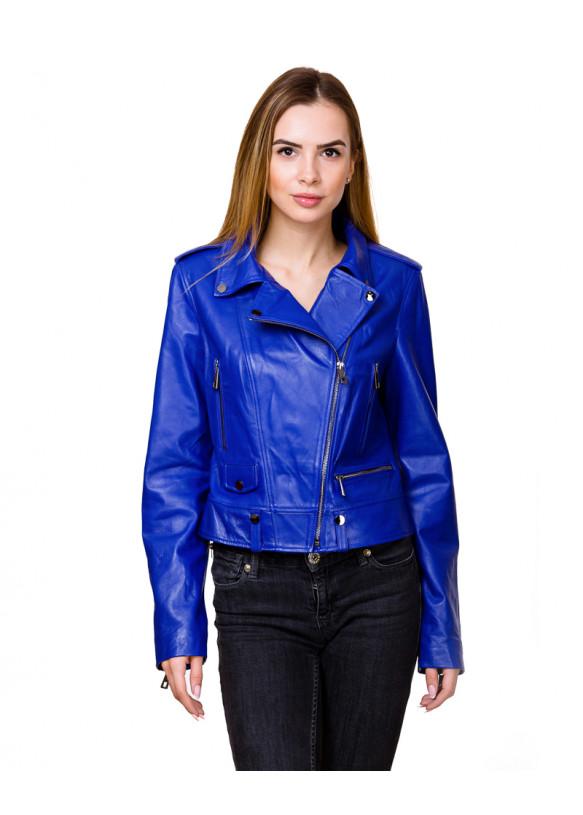 Женская кожаная куртка косуха Z-2 Y115 ZIG 029