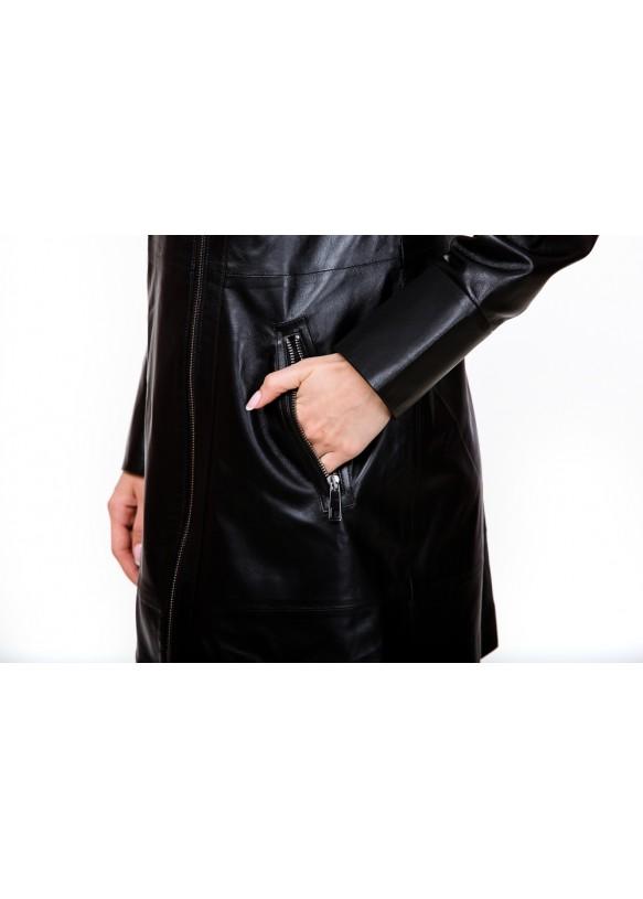 Женский кожаный плащ 5030 Y105 ZIK 029