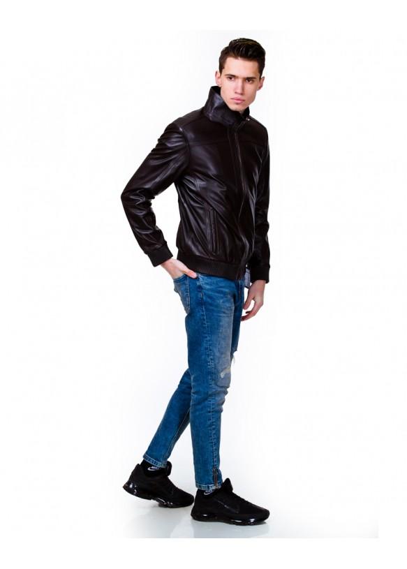 Мужская кожаная куртка 6077 Y120 ZIK 029