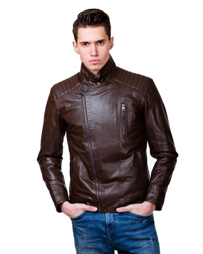 Мужская кожаная куртка косуха 2542 Y100 JAMBO 051 - интернет-магазин Alberta