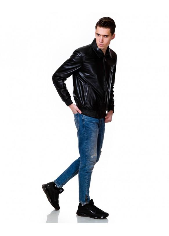 Мужская кожаная куртка 8030 Y110 ZIK 029