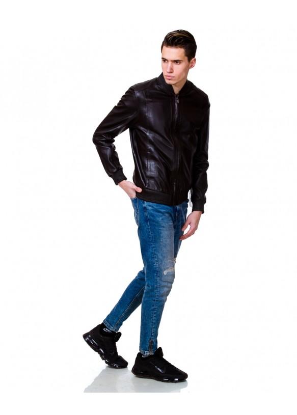 Мужская кожаная куртка 8026 Y110 ZIK 029