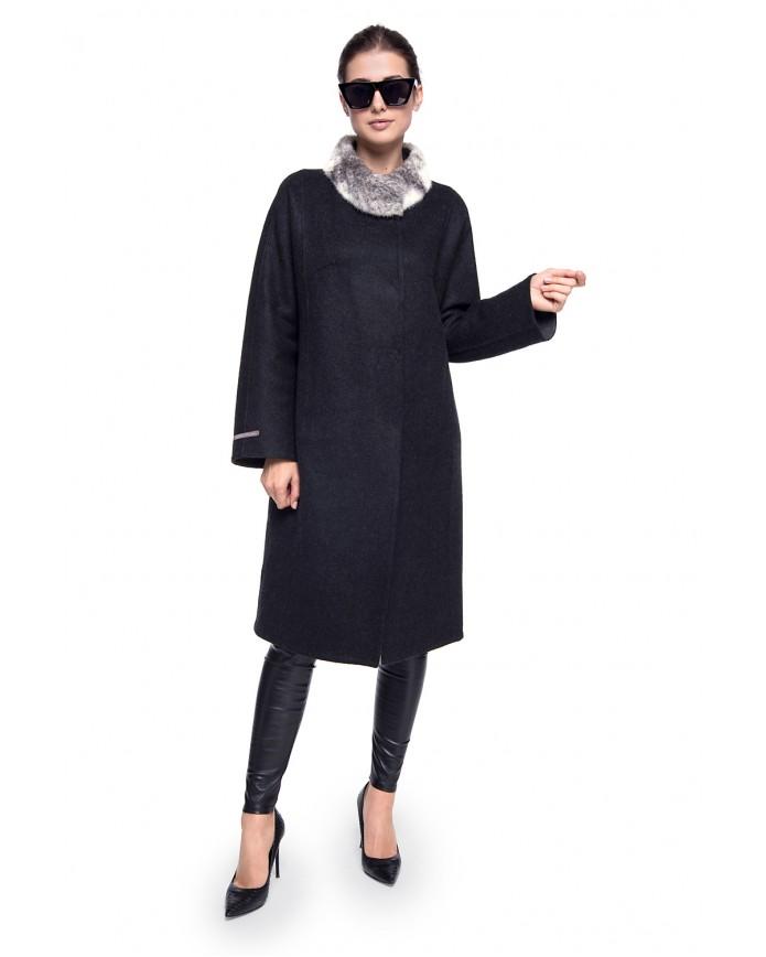 Пальто з альпаки 224-S ALPAKA 096 - интернет-магазин Alberta