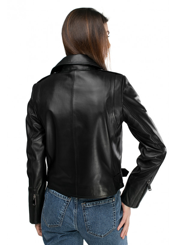 Женская кожаная куртка VES-102 ZIK 089