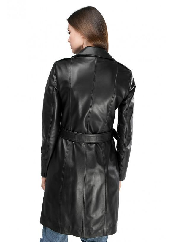 Женский кожаный плащ VES-100 ZIK 089