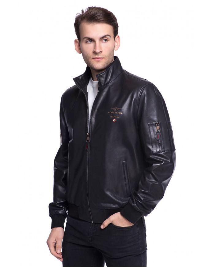 Мужская кожаная куртка 1072 ZIK 099 - интернет-магазин Alberta