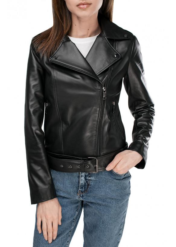 Женская кожаная куртка VES-110 ZIK 089