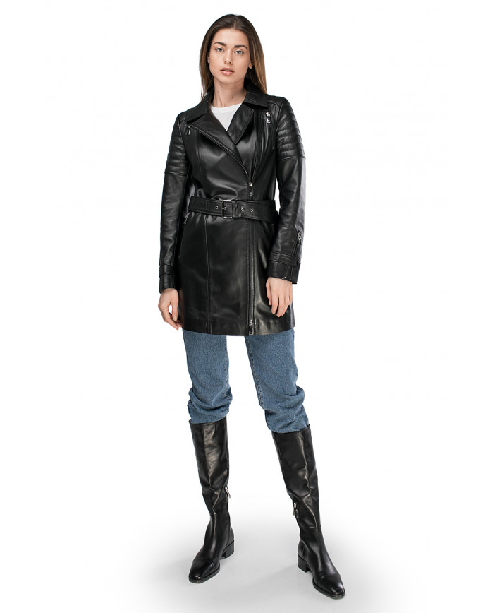 Women's leather trenchcoat  VES-120 ZIK 089