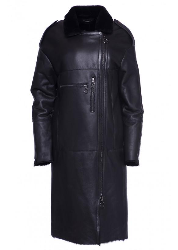 Женская дубленка из натуральной овчины Trench Coat SILKY 097