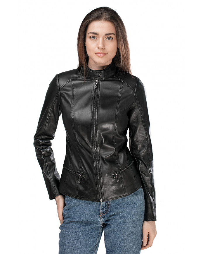 Women's leather jacket Z-8 NEW NATUREL 086