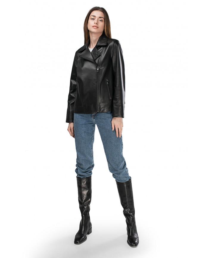 Женская кожаная куртка VES-109 ZIK 089 - интернет-магазин Alberta