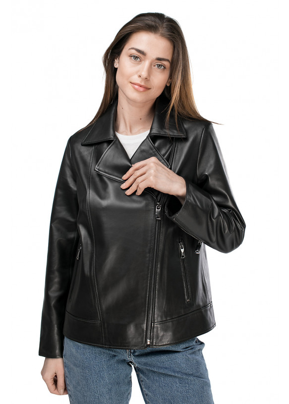 Women's leather jacket VES-109 ZIK 089