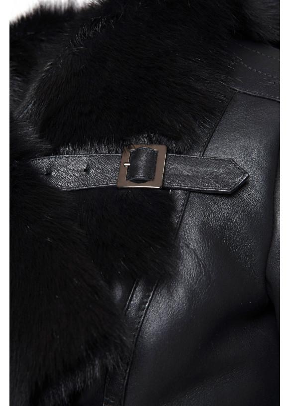 Женская дубленка из натуральной овчины 02-Long SILKY 086