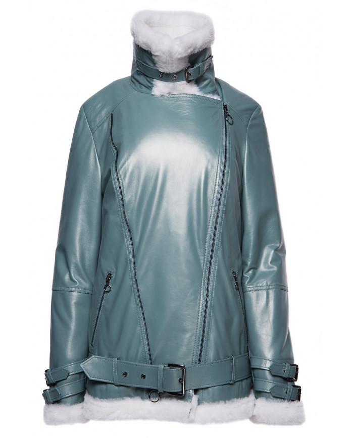 Sheepskin coat Pilot  D.Zipp Green SILKY 097