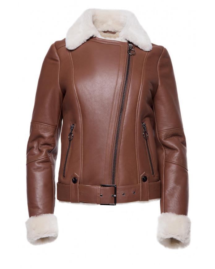 Sheepskin coat Co-Pilot WS SILKY 086