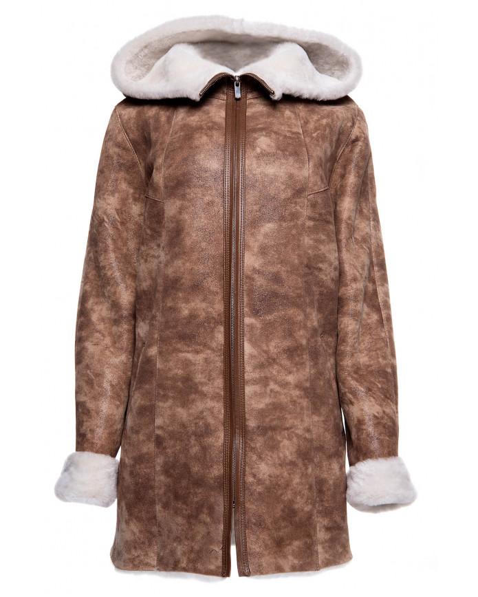 Женская дубленка из натуральной овчины LUNA Y100 KREK 065 - интернет-магазин Alberta