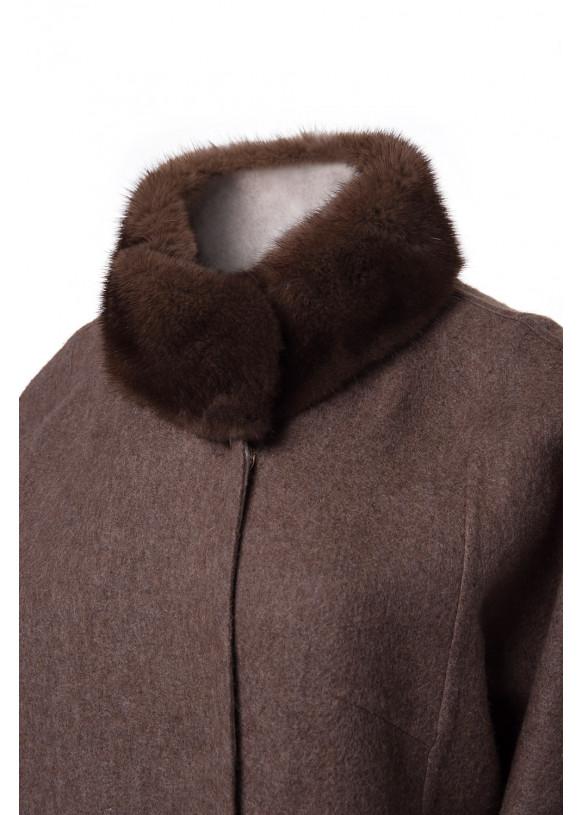 Женское пальто из альпаки 224-Kah ALPAKA 096