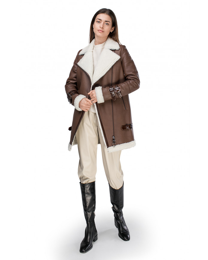 Women's sheepskin coat      PILOT Maxi-K JUMBO 086