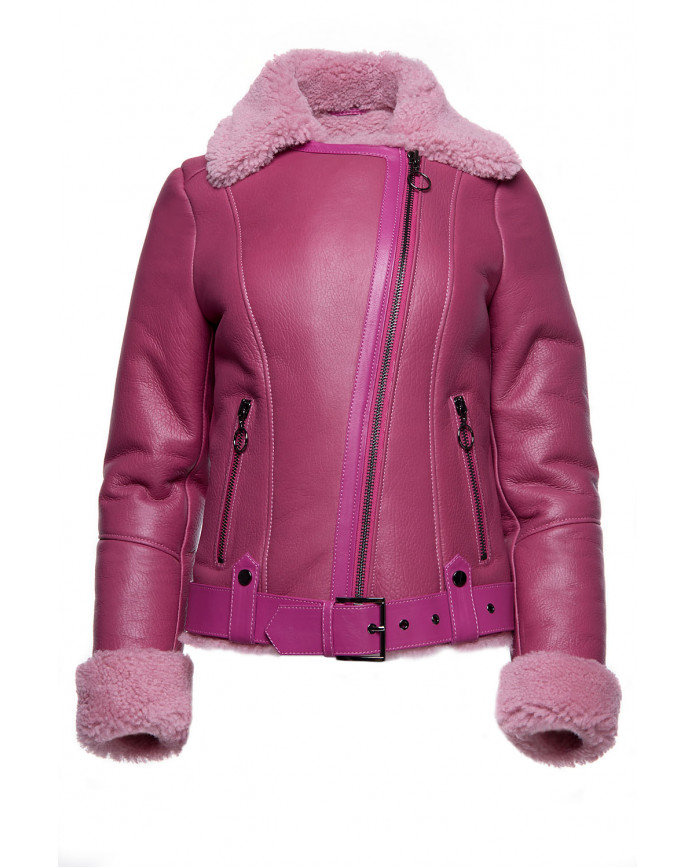 Women's sheepskin coat  Co-Pilot Rose SILKY 086