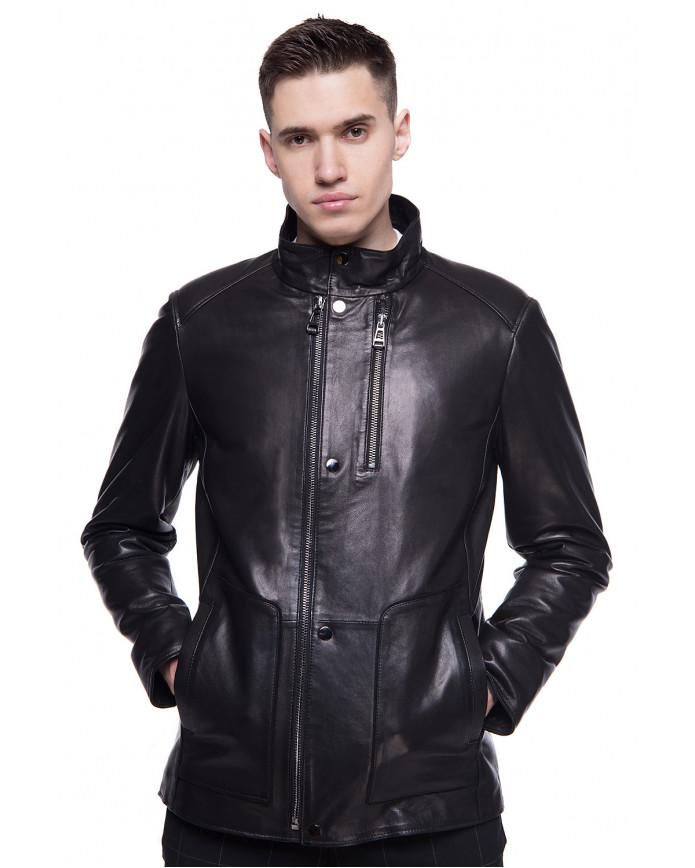 Мужская кожаная куртка N.ER-1 VEGETAL 093 - интернет-магазин Alberta