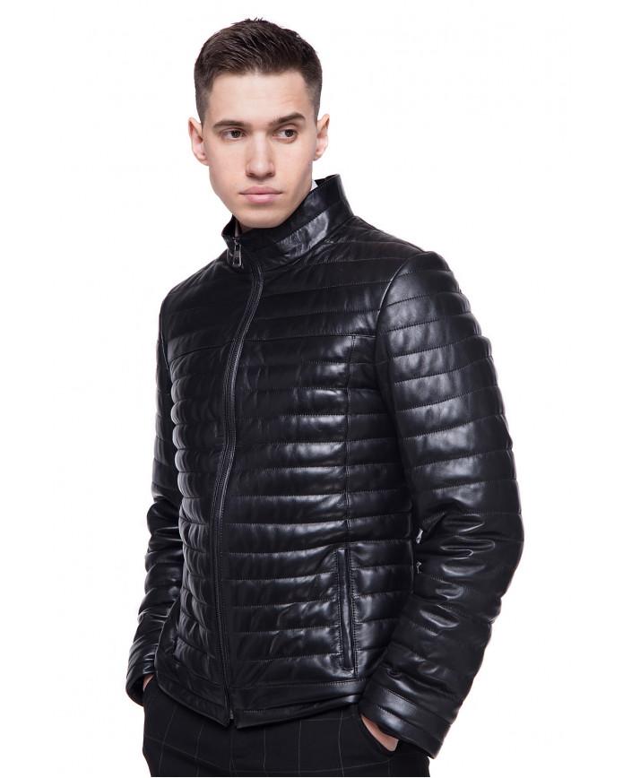 Мужская кожаная демисезонная куртка N-VV-45 ZIG 098 - интернет-магазин Alberta