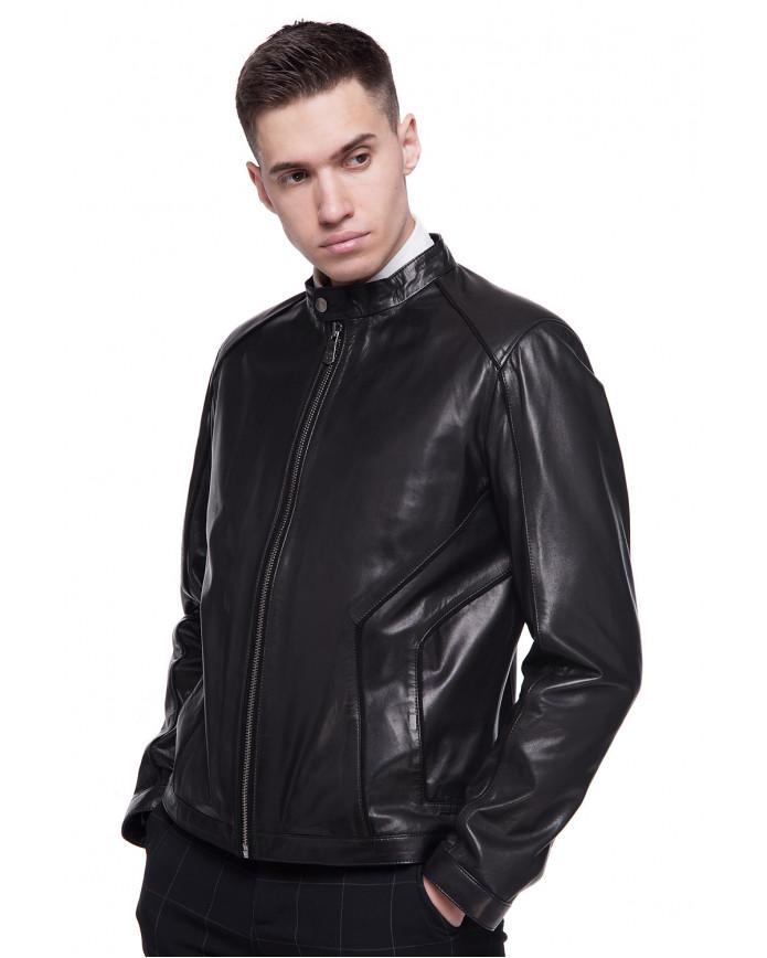 Мужская кожаная куртка N.ER-8 VEGETAL 093 - интернет-магазин Alberta
