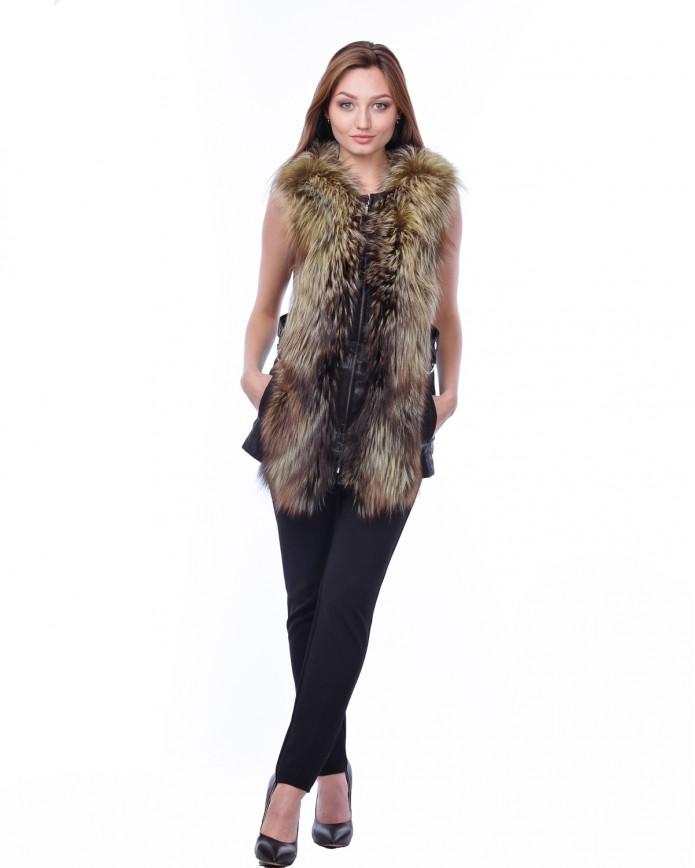 Women's fox waistcoat MAGNUM Y80 LAZ ZWET 013 - интернет-магазин Alberta