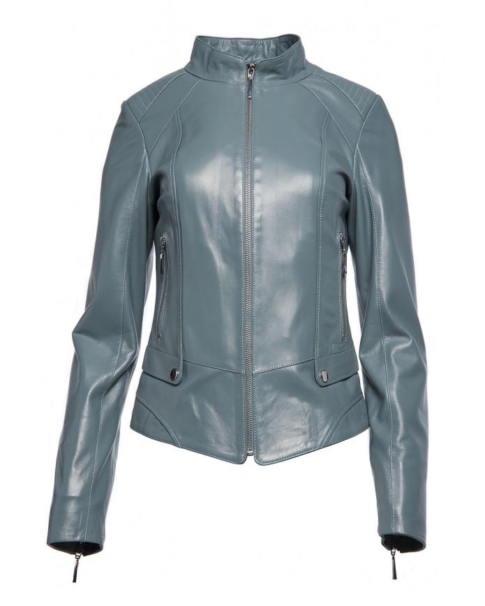 Женская кожаная куртка 2-077 VEGETAL 092 - интернет-магазин Alberta