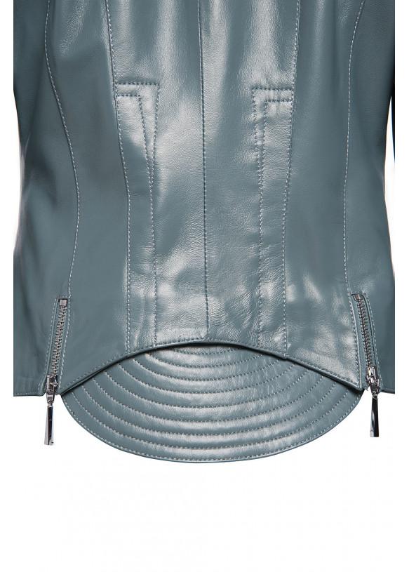 Женская кожаная куртка 2-077 VEGETAL 092