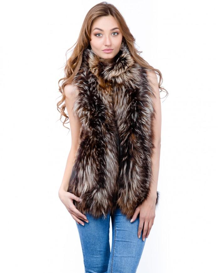 Women's fox waistcoat 1535 Y70 ZIK ARJANTE 009 - интернет-магазин Alberta