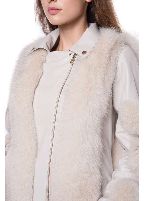 Женская шуба из меха лисы Z-001  ZIG-FROST 105