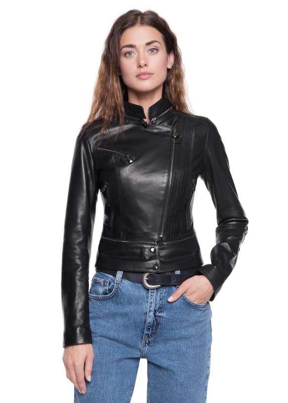 Женская кожаная куртка 3333 PP VEGETAL 092