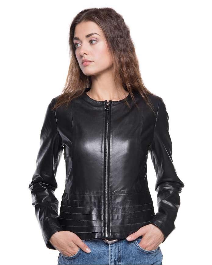Жіноча шкіряна куртка 9301 ZIK 093 - интернет-магазин Alberta