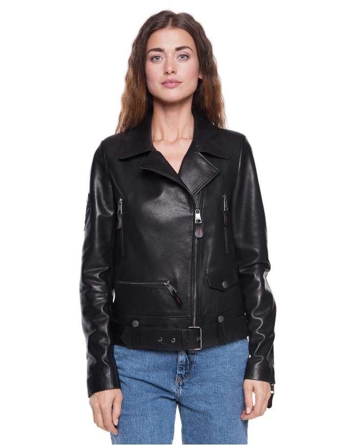 Women's  leather jacket 3030  VEGETAL 092