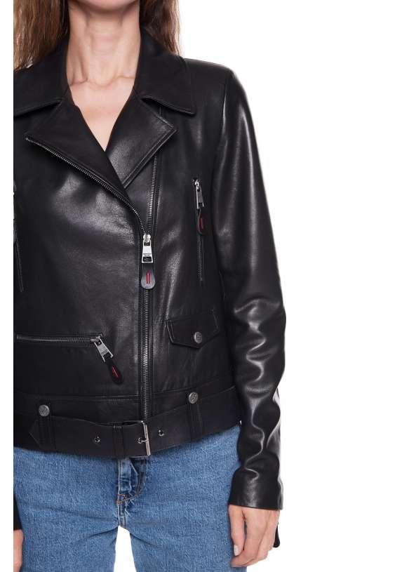 Женская кожаная куртка 3030  VEGETAL 092