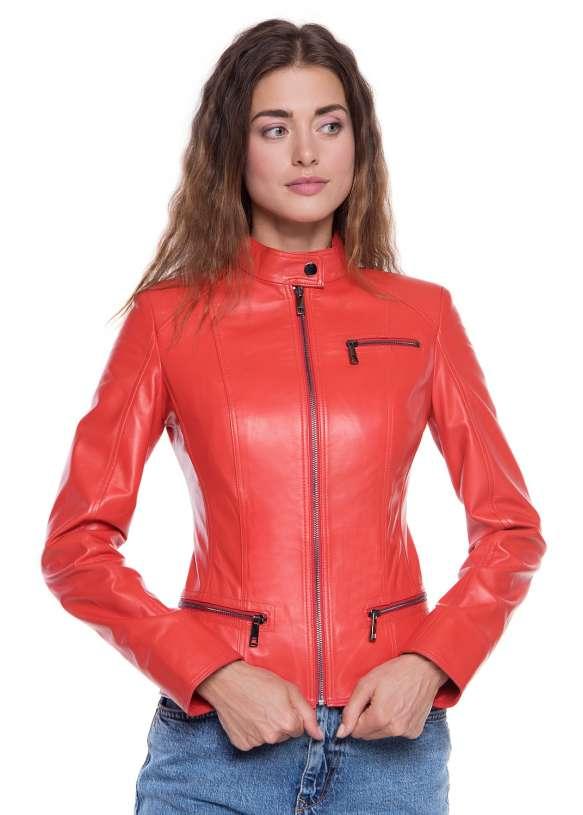 Женская кожаная куртка Z-8 Y120 ZIG 029